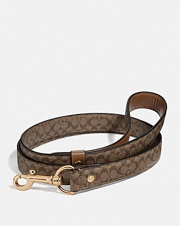 LARGE PET LEASH IN SIGNATURE CROSSGRAIN LEATHER