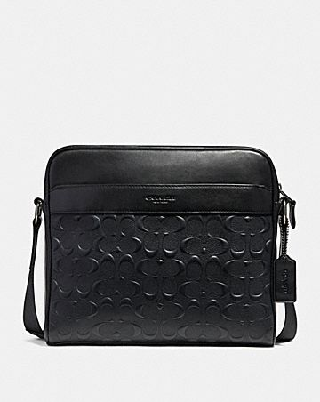 CHARLES CAMERA BAG IN SIGNATURE LEATHER