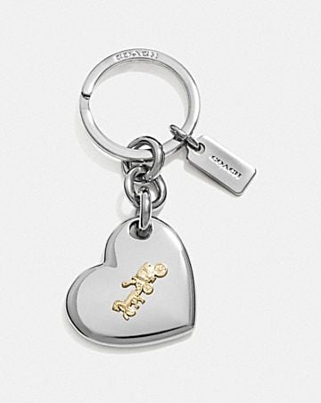 HORSE AND CARRIAGE HEART BAG CHARM