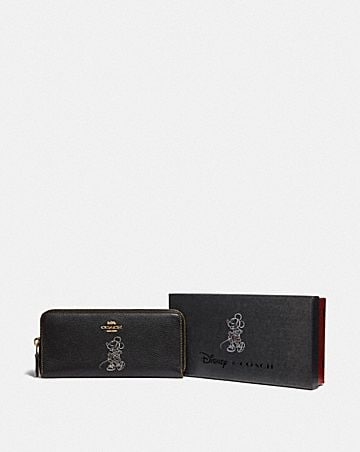 BOXED MINNIE MOUSE SLIM ACCORDION ZIP WALLET WITH MOTIF