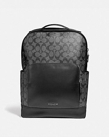 GRAHAM BACKPACK IN SIGNATURE CANVAS