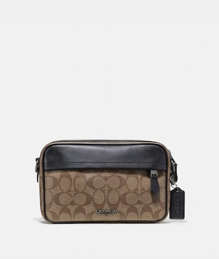 GRAHAM CROSSBODY IN SIGNATURE CANVAS