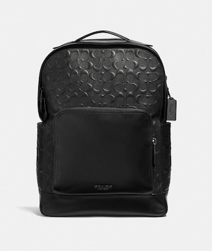 GRAHAM BACKPACK IN SIGNATURE LEATHER
