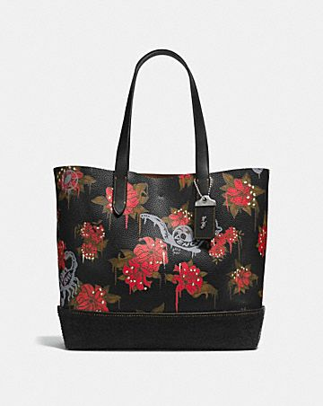 GOTHAM TOTE WITH WILD LILY PRINT