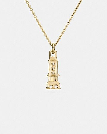 MINI GOLD PLATED ROCKET NECKLACE