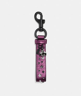 STUDDED CHARM LOOP BAG CHARM