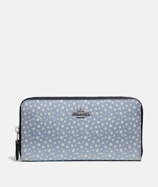 ACCORDION ZIP WALLET WITH DITSY STAR PRINT