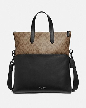 GRAHAM FOLDOVER TOTE IN SIGNATURE CANVAS