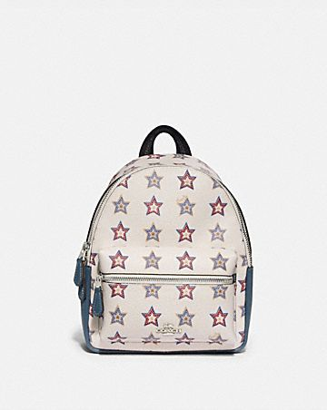 MINI CHARLIE BACKPACK WITH WESTERN STAR PRINT