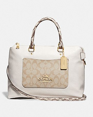 EMMA SATCHEL WITH SIGNATURE CANVAS DETAIL