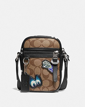 DISNEY X COACH TERRAIN CROSSBODY IN SIGNATURE CANVAS WITH SNOW WHITE AND THE SEVEN DWARFS PATCHES