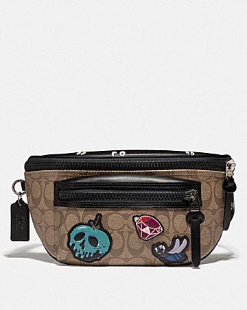 DISNEY X COACH TERRAIN BELT BAG IN SIGNATURE CANVAS WITH SNOW WHITE AND THE SEVEN DWARFS PATCHES