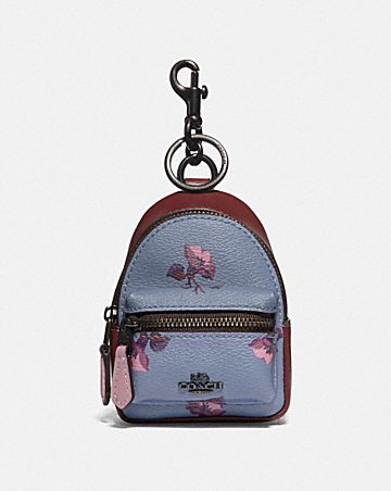 BACKPACK COIN CASE WITH BELL FLOWER PRINT