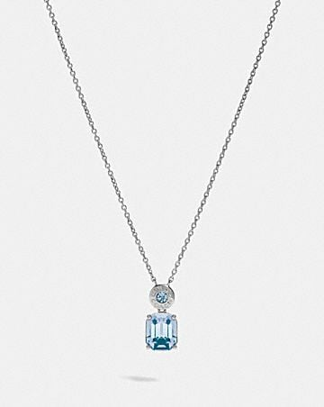 EMERALD CUT CRYSTAL NECKLACE