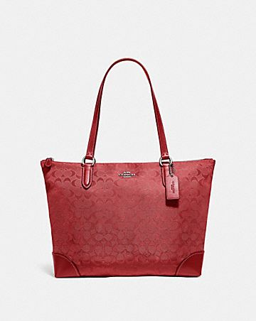 ZIP TOP TOTE IN SIGNATURE NYLON