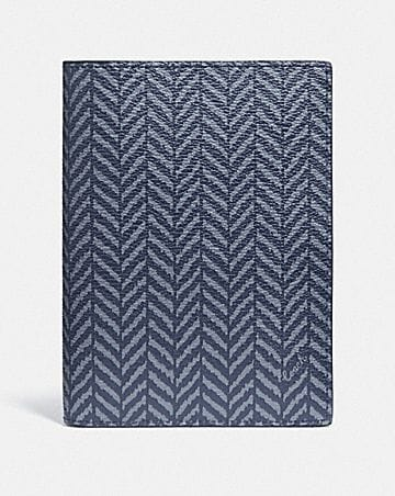 PASSPORT CASE WITH HERRINGBONE PRINT