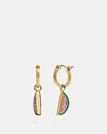 WATERMELON HUGGIE EARRINGS