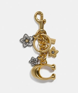 SIGNATURE AND DAISY BAG CHARM