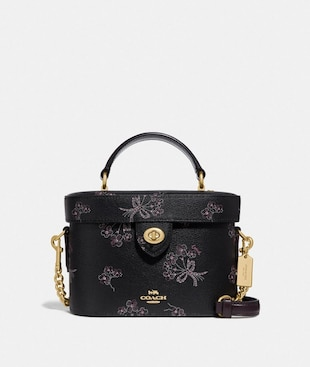 KAY CROSSBODY WITH RIBBON BOUQUET PRINT
