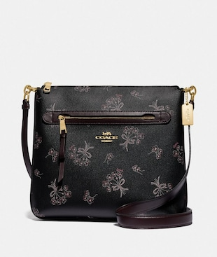 MAE FILE CROSSBODY WITH RIBBON BOUQUET PRINT
