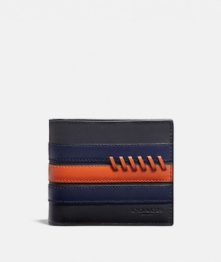 3-IN-1 WALLET WITH BASEBALL STITCH