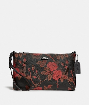 LARGE WRISTLET 25 WITH THORN ROSES PRINT