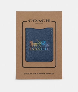 PHONE POCKET STICKER WITH RAINBOW HORSE AND CARRIAGE