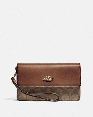 FOLDOVER WRISTLET IN SIGNATURE CANVAS
