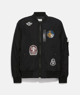 STAR WARS X COACH REVERSIBLE MA-1 JACKET WITH PATCHES