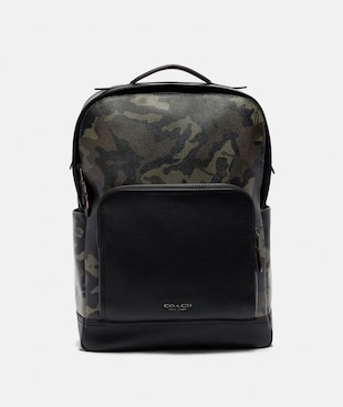 GRAHAM BACKPACK WITH CAMO PRINT