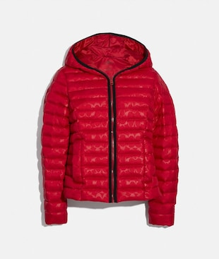 PACKABLE SIGNATURE EMBOSSED DOWN JACKET
