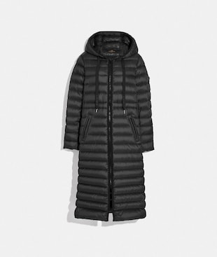 LONG DOWN COAT WITH HOOD