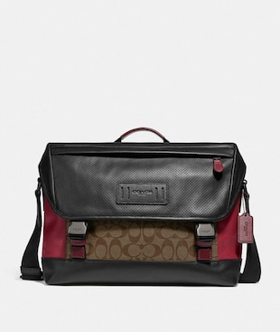 RANGER MESSENGER IN COLORBLOCK SIGNATURE CANVAS