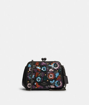 PEARL KISSLOCK CROSSBODY WITH LEATHER SEQUINS