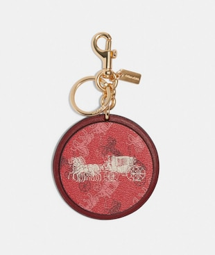 HORSE AND CARRIAGE PRINT BAG CHARM