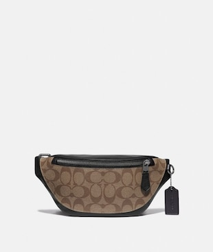 WARREN MINI BELT BAG IN SIGNATURE CANVAS