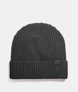 RIB KNIT MERINO WOOL HAT