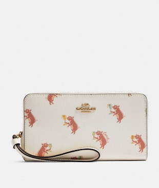 LARGE PHONE WALLET WITH PARTY PIG PRINT