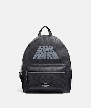 STAR WARS X COACH MEDIUM CHARLIE BACKPACK IN SIGNATURE CANVAS WITH MOTIF