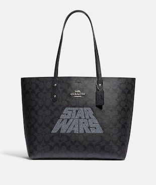 STAR WARS X COACH TOWN TOTE IN SIGNATURE CANVAS WITH MOTIF