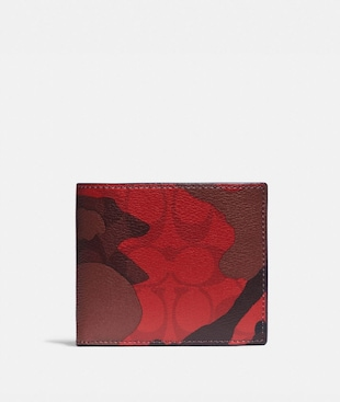 3-IN-1 WALLET IN SIGNATURE CANVAS WITH CAMO PRINT