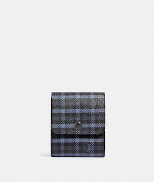 GROOMING KIT WITH TINY CLASSIC PLAID PRINT