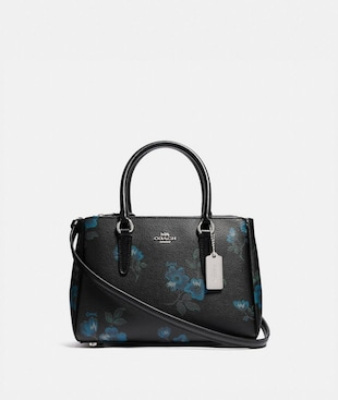 MINI SURREY CARRYALL WITH VICTORIAN FLORAL PRINT