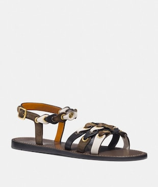 SANDAL WITH COACH LINK