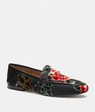 HALEY LOAFER WITH FLORAL PRINT