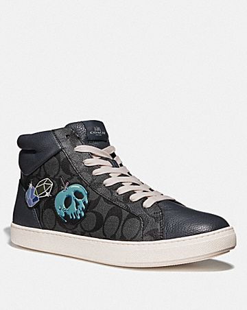 DISNEY X COACH C204 HIGH TOP SNEAKER WITH SNOW WHITE AND THE SEVEN DWARFS PATCHES