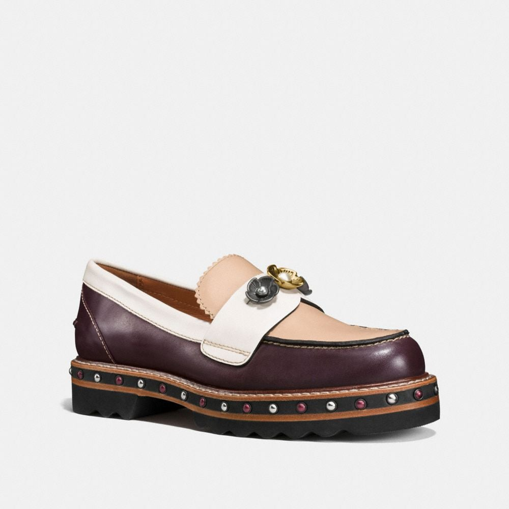 LENOX LOAFER WITH TEA ROSE STUD