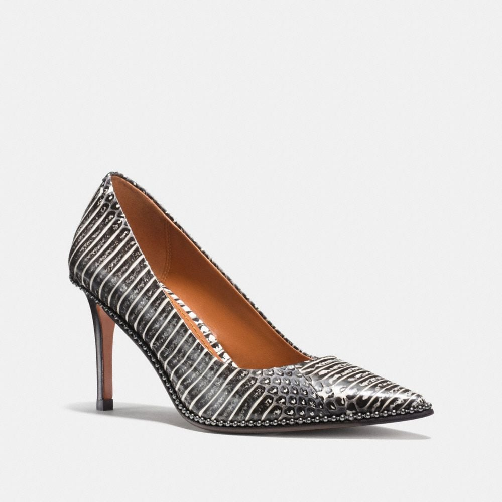BEADCHAIN PUMP IN SNAKESKIN