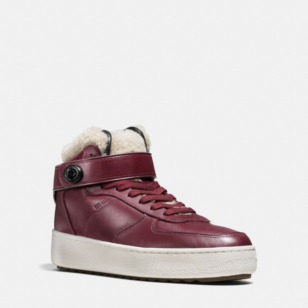 SHEARLING TURNLOCK C210 HIGH TOP SNEAKER