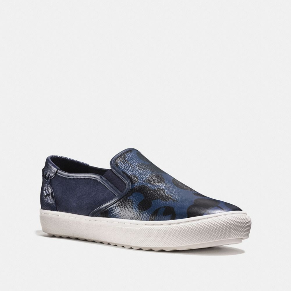 coach flats outlet 4bmj  C115 WILD BEAST SLIP ON SNEAKER
